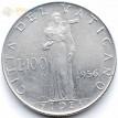 Ватикан 1956 100 лир Пий XII