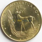 Ватикан 1974 20 лир Олень