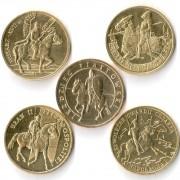 Польша набор 5 монет 2006-2011 Рыцари