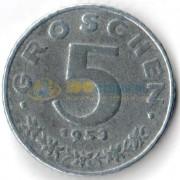 Австрия 1948-1994 5 грошей