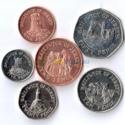 Джерси набор 6 монет 2012