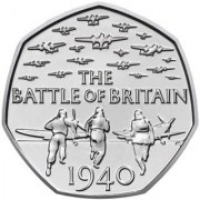 Великобритания 2015 50 пенсов Битва за Британию