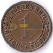 Германия 1924 1 пфенниг