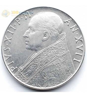 Ватикан 1955 100 лир Пий XII
