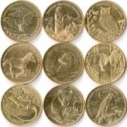 Польша набор 9 монет 2005-2014 Животные