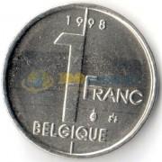 Бельгия 1998 1 франк BELGIQUE