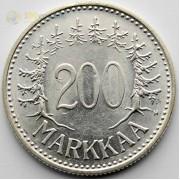 Финляндия 1958 200 марок (серебро)