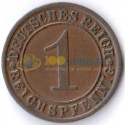Германия 1925 1 пфенниг