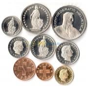 Швейцария 1948-2016 набор 9 монет