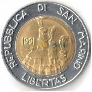 Сан-Марино 1991 500 лир Гостеприимство