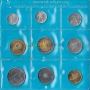Сан-Марино 1986 набор 9 монет (запайка)