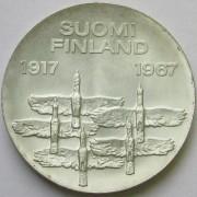Финляндия 1967 10 марок 50 лет независимости