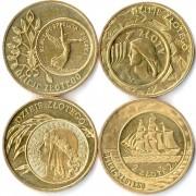 Польша набор 4 монеты 2004-2007 История злотого