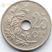 Бельгия 1927 25 сантимов BELGIE