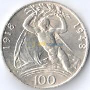 Чехословакия 1948 100 крон 30 лет независимости