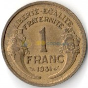 Франция 1931-1941 1 франк