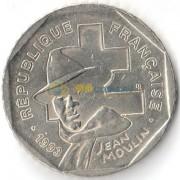 Франция 1993 2 франка Жан Мулен