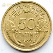 Франция 1939 50 сантимов