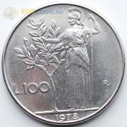 Италия 1978 100 лир Богиня мудрости Минерва