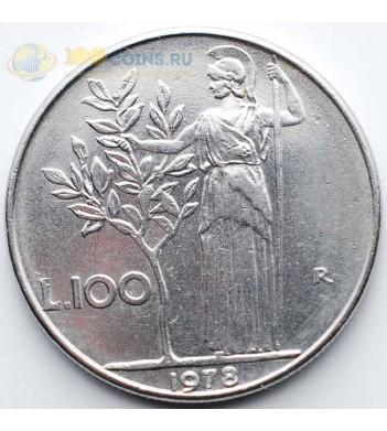 Италия 1977 100 лир Богиня мудрости Минерва