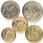 Сербия 2009-2016 Набор 5 монет