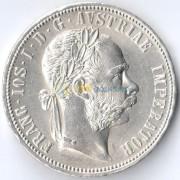 Австрия 1884 1 флорин Франц Иосиф (серебро)