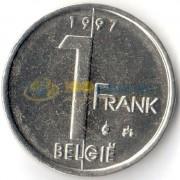 Бельгия 1997 1 франк BELGIE