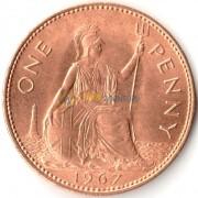 Великобритания 1967 1 пенни