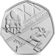 Великобритания 2014 50 пенсов Игры Содружества