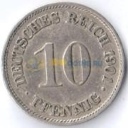 Германия 1890-1916 10 пфеннигов