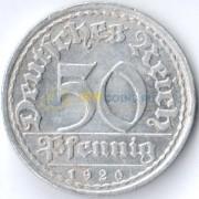 Германия 1920 50 пфеннингов F