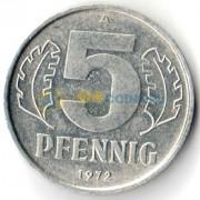 Германия 1972 5 пфеннигов