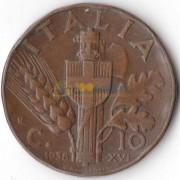 Италия 1936-1939 10 чентизимо (km 74)