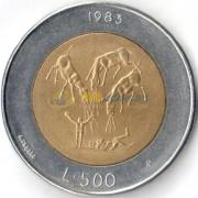 Сан-Марино 1983 500 лир Ядерная угроза