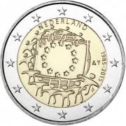 Нидерланды 2015 2 евро 30 лет флагу Европейского союза