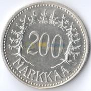 Финляндия 1956 200 марок (серебро)