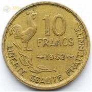 Франция 1953 10 франков