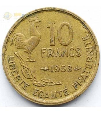 Франция 1950-1958 10 франков