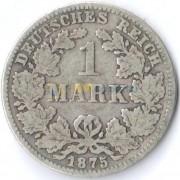 Германия 1875 1 марка C (F-VF)