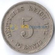 Германия 1890-1915 5 пфеннигов