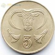 Кипр 2001 5 центов