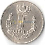Люксембург 1971 5 франков