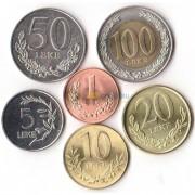 Албания 2000-2012 набор 6 монет