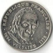 Франция 1994 5 франков Вольтер