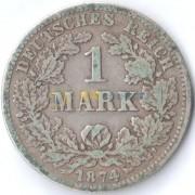 Германия 1874 1 марка F (F-VF)