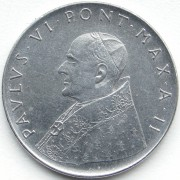 Ватикан 1963-1965 100 лир Павел VI