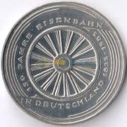 ФРГ 1985 5 марок Первая железная дорога