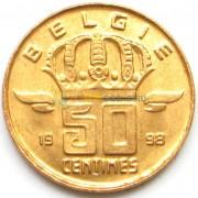 Бельгия 1998 50 сантимов BELGIE