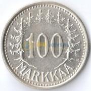 Финляндия 1957 100 марок (серебро)