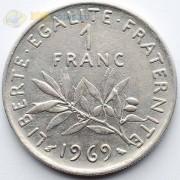 Франция 1969 1 франк